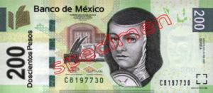 Billet 200 Pesos Mexique MXN Type I recto