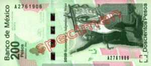 Billet 200 Pesos Mexique MXN Type II recto
