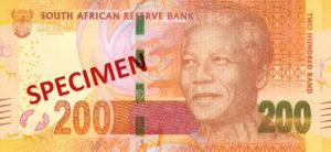 Billet 200 Rand Sud-Afrique ZAR recto