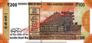 Billet 200 Roupie Inde INR