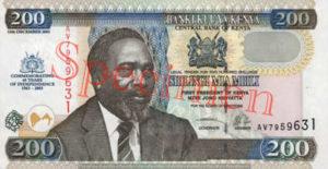 Billet 200 Shilling Kenya KES 2003 recto
