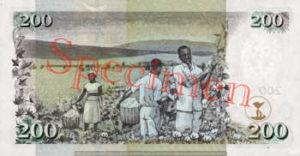Billet 200 Shilling Kenya KES 2004 verso