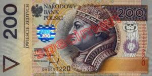 Billet 200 Zloty Pologne PLN Type I recto