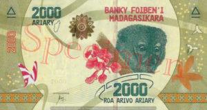 Billet 2000 Ariary Madagascar MGA 2017 recto