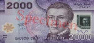 Billet 2000 Peso Chili CLP recto