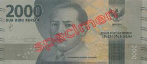 Billet 2000 Roupie Indonesie IDR