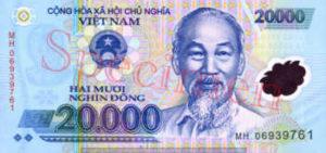 Billet 20000 Dong Vietnam VND recto