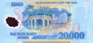 Billet 20000 Dong Vietnam VND verso