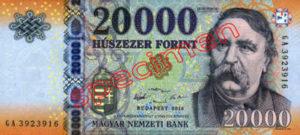 Billet 20000 Forint Hongrie HUF 2015 recto