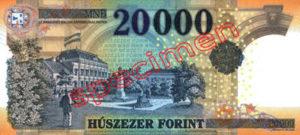 Billet 20000 Forint Hongrie HUF 2015 verso