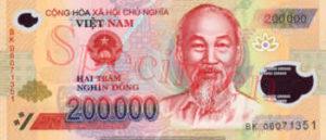 Billet 200000 Dong Vietnam VND recto
