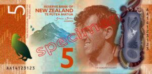 Billet 5 Dollar Nouvelle Zelande NZD Serie 7 recto