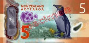 Billet 5 Dollar Nouvelle Zelande NZD Serie 7 verso