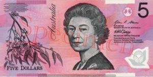 Billet 5 Dollar Australien AUD I recto