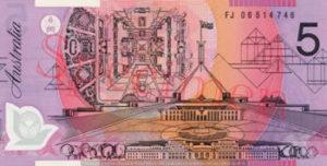 Billet 5 Dollar Australien AUD I verso