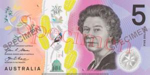 Billet 5 Dollar Australien AUD recto