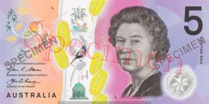 Billet 5 Dollars Australie AUD recto