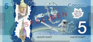 Billet 5 Dollars Canada CAD verso