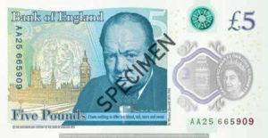 Billet 5 Livres Sterling GBP