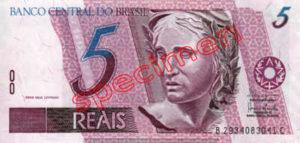 Billet 5 Real Bresil BRL Serie I recto