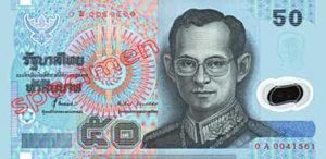 Billet 50 Baht Polymer Thailande THB XV recto