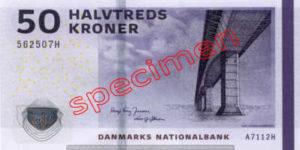 Billet 50 Couronnes Danemark DKK recto