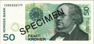 Billet 50 Couronne Norvégienne NOK Serie VII recto