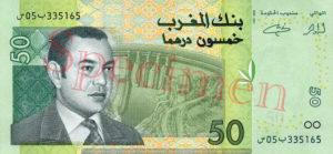 Billet 50 Dirhams Maroc MAD 2002 recto