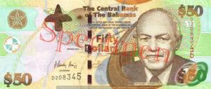 Billet 50 Dollar Bahamas BSD 2006 recto