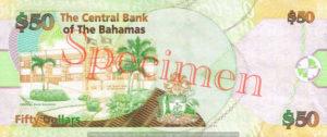 Billet 50 Dollar Bahamas BSD 2006 verso