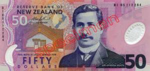 Billet 50 Dollar Nouvelle Zelande NZD Serie 6 recto