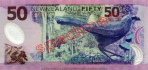 Billet 50 Dollar Nouvelle Zelande NZD Serie 6 verso