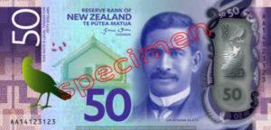 Billet 50 Dollar Nouvelle Zelande NZD Serie 7 recto