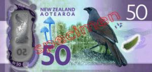Billet 50 Dollar Nouvelle Zelande NZD Serie 7 verso