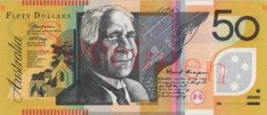 Billet 50 Dollar Australien AUD recto