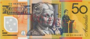 Billet 50 Dollar Australien AUD verrso