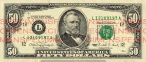 Billet 50 Dollars Etats-Unis USD