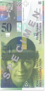 Billet 50 Francs CHF Suisse