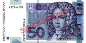 Billet 50 Kuna Croatie HRK recto