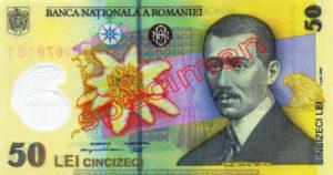 Billet 50 Lei Roumanie RON recto