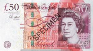 Billet 50 Livres Sterling Pounds GBP