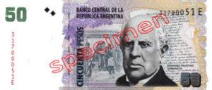 Billet 50 Pesos Argentine ARS Type I recto