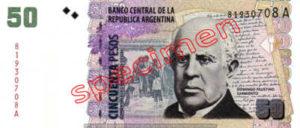 Billet 50 Pesos Argentine ARS Type II recto