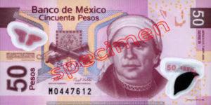 Billet 50 Pesos Mexique MXN Type I recto