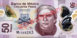 Billet 50 Pesos Mexique MXN Type II recto