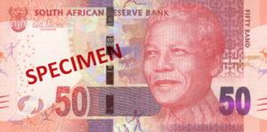 Billet 50 Rand Sud-Afrique ZAR recto