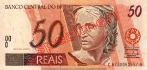Billet 50 Real Bresil BRL Serie I recto