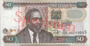 Billet 50 Shilling Kenya KES 2003 recto