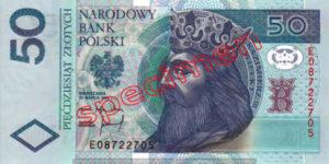 Billet 50 Zloty Pologne PLN Type I recto