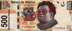 Billet 500 Pesos Mexique MXN Type I recto